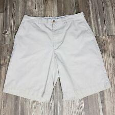 Men's Callaway Golf Shorts Size 34 Beige Khaki Flat Front 100% Cotton