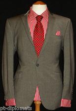 "MEN'S 1 BUTTON THE ORIGINAL BEN SHERMAN GREY DESIGNER SUIT UK 40SW34"" XL30"""