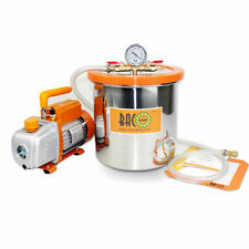 BACOENG 3 Gallon Vacuum Chamber with 3 CFM Single Stage Vacuum Pump HVAC