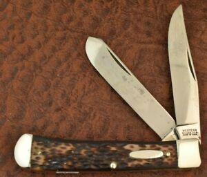 VINTAGE RARE 1970's WESTERN BOULDER COLO USA DELRIN TRAPPER KNIFE 691 (9189)