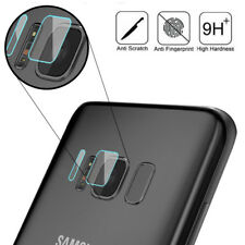 For Samsung Galaxy S8 S8 Plus Back Camera Lens + Flash Tempered Glass Protector