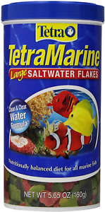 5.65oz Tetra Marine Saltwater Flakes, FREE 12-Type Ultra Pellet Blend Included