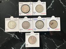 More details for 1960s silver 5 marks x 7 (1960 d & g, 1964 f & g, 1965 d & f, 1966 f)