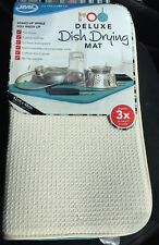 JML Deluxe Dish Drying Mat Absorbent & Fast Drying - Cream