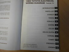 Wiring diagram 1983 TOYOTA CELICA CELICA SUPRA CRESSIDA CROWN CORONA CARINA