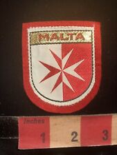 """2/"""" Red White Air Wing Malta Roundel Patch VELCRO BRAND Hook Side"""