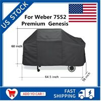 For Weber 7552 Premium Genesis Waterproof Black Grill Cover Protector Grill