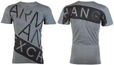 Armani Exchange Mens S/S T-Shirt BIAS Designer GREY BLACK Casual S-2XL $45