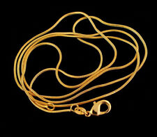 """10pcs 18K Gold Plated 1mm Snake Chain Necklaces 16""""-30"""" Wholesale Necklace Chain"""