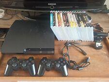 PS3 Playstation 3 Slim 320 Go Console, contrôleurs 2x, 15 jeux, caméra.