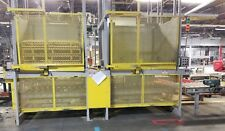 2 Newcastle pallet dispensers stackers with conveyors, hydraulic pump,electrical