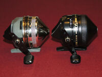 Lot of 2 Nice Zebco 202 Spincast Reels, 50th Anniversary & 25th Anniversary RH