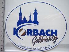 Aufkleber Sticker Korbach - Goldrichtig (6166)