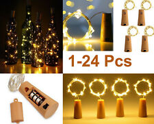 Led Bottle Lights Wine Bottle Glass Cork Lights DIY Lights Party Gift 1-24 Pcs