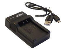 VHBW Micro USB CARICABATTERIE PER Canon EOS 550 / 550D / 600 / 600D / 650 / 650D