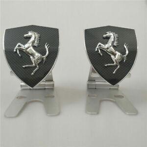 Ferrari F12 Berlinetta Carbon Fiber Fender Shield badge Emblem 2 PCS New
