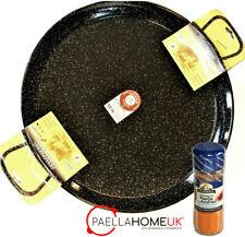 36cm  ENAMELLED STEEL PAELLA PAN PROFESSIONAL + SAFFRON PAELLA MIX GIFT