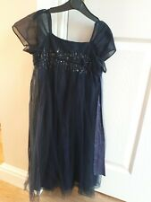 Monsoon Navy Blue Sequin Embellished Party Occasion Dress 6-7