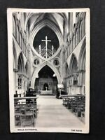 Vintage Real Photo Postcard #TP1429: Wells Cathedral, The Nave: 1963