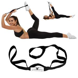 Cheerleading Stunt Stand(R) Balance & Flexibility Stretching Strap - BLACK
