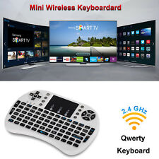 i8 Backlight/Backlit Wireless 2.4Ghz keyboard Touchpad for Android TV Box White