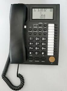 Telefono da ufficio PH-206 con grande display, ideale per centralini telefonici