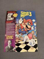 NINTENDO NES poster 1992  Super Mario Bros 3  very good condition insert