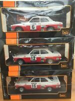 IXO 18RMC024 FORD ESCORT MK.1 model rally cars Mikkola Makinen Clark Porter 1:18