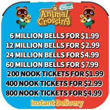Animal Crossing:New Horizons Bells, Nook Mile Ticket, Fish Bait Instant Delivery