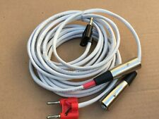 """15""""ft 14AWG OFC Copper Speaker Wire Pair Cables Plugs Banana to XLR-M Audio"""