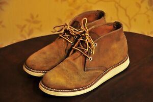 """Red Wing """"3145"""" Brown Burnt Orange Muleskinner Suede Chukka Boots US7 Made in US"""