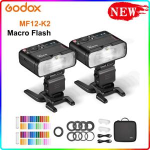 Godox MF12-K2 Macro Flash 2-Light Kit 2.4 GHz Wireless Control 0.01 to 1.7s Time