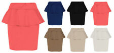 Unbranded Machine Washable Mini Solid Skirts for Women