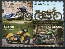 More details for aland motorcycles stamps 2020 mnh harley davidson indian chief 4v block