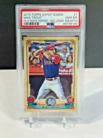 Mike Trout 2019 Topps Gypsy Queen Player's Weekend Logo Swap #1 PSA 10 Gem SP