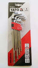 Yato keys wrench set 9 piece yt-0512 tamper proof t10-t50