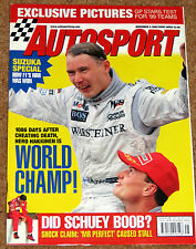 Autosport 5/11/98* JAPANESE GP - F3000 & FF REVIEW - 30 YEARS of RALLY ESCORTS