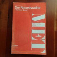Strauss Libretto Rose Bearer Der Rosenkavalier German English Metropolitan Opera