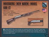 MOSSBERG (NEW HAVEN) MODEL 600 ET SHOTGUN Atlas Classic Firearms Gun PHOTO CARD