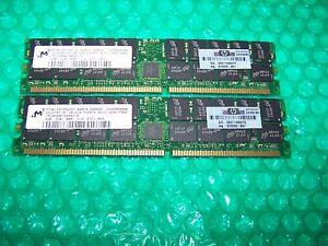 4GB HP Micron DDR PC3200R 400MHz CL3 ECC Registered Server Memory (2x 2GB)
