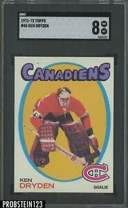 1971-72 Topps Hockey #45 Ken Dryden Montreal Canadiens RC Rookie SGC 8