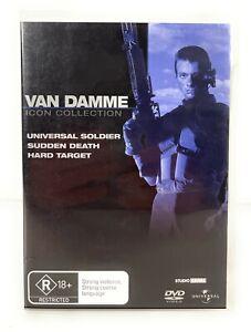 Van Damme Icon Collection Universal Soldier, Sudden Death, Hard Target DVD R4