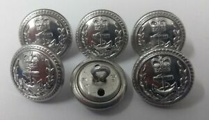 Genuine British Royal Navy Officers Flag Mess Dress Buttons RN 19.1mm 30L ASBT45