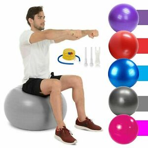 65cm Fitness Exercise Ball Yoga Gym Swiss Pregnancy Birthing Anti-Burst WithPump