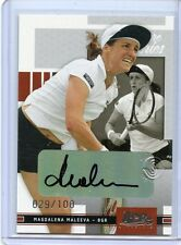 2005 ACE AUTHENTIC SIGNATURE SERIES MAGDALENA MALEEVA AUTOGRAPH # 029/100