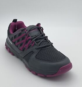Reebok Sublite Work ESD Grey Fuchsia - Women's Soft Toe Work Shoes Size 7.5 Wide