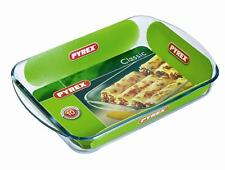 Pyrex Glass Baking Tray Oven Dish Casserole 40 X 27cm Oven Proof Rectangular New