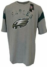 Philadelphia Eagles NFL Majestic Weathered Logo T-Shirt, Grey, Men's Big & Tall