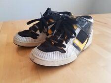 Osiris NYC 83 Mid Men Skate Shoes Sneaker Stripe White Yellow Black US 7.5