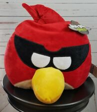 Angry Bird Rovio Plush Stuffed Animal Round Pillow Large Red